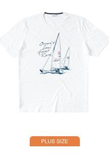 Camiseta Branca Tradicional Ocean'S Soul