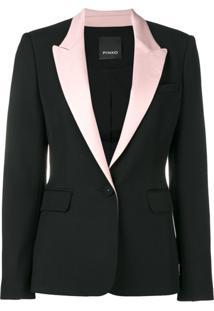 Pinko Blazer Com Abotoamento - Preto