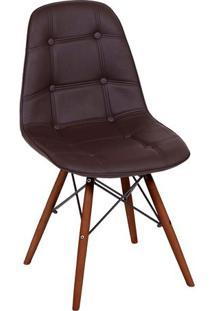 Cadeira Eames Botonê- Café & Madeira Escura- 83X44X3Or Design
