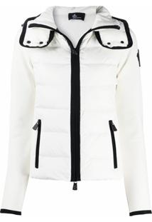 Moncler Grenoble Padded Zip-Up Down Jacket - Branco