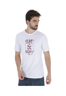 Camiseta Hurley Silk Surf And Enjoy - Masculina - Branco