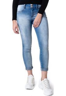 Calça Jeans Feminina Instinto Cigarrete Azul - 46
