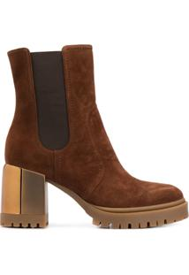 Casadei Chunky Heel Ankle Boots - Marrom