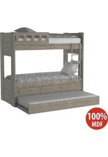 Treliche 3 Gavetas Com Escada E Grade 100% Mdf 908910 Demolição - Foscarini
