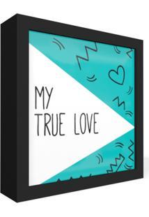 Quadro Adoraria Caixa Frontal Love Amor Preto