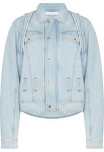 Gmbh Jaqueta Jeans Oversized Camar - Azul