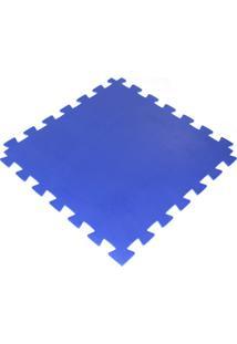 Tapete Tatame Loja Da Maria Eva 100X100X3Cm 30Mm Azul Royal