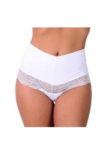 Calcinha Vip Lingerie Pala Lateral Branco