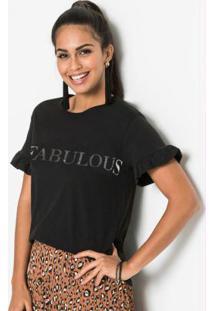 Blusa Estampa Fabulous Preta