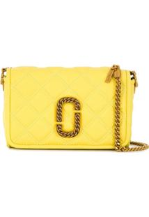 Marc Jacobs Snapshot Quilted Shoulder Bag - Amarelo