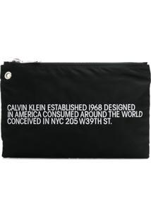 Calvin Klein 205W39Nyc Bolsa Clutch 'Est.' - Preto