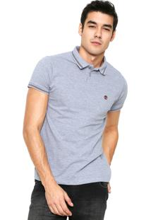 Camisa Polo Timberland Stripes Cinza