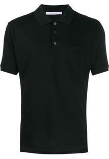 Givenchy Camisa Polo Com Listras Contrastantes - Preto