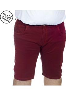 Bermuda Plus Size Bigshirts Sarja - Vermelha