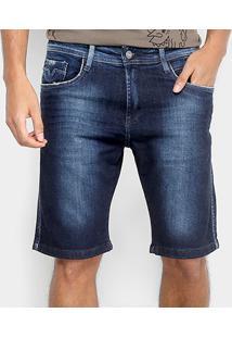 Bermuda Jeans Replay Anbass Masculina - Masculino-Azul