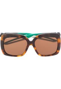 Balenciaga Hybrid D-Frame Sunglasses - Marrom