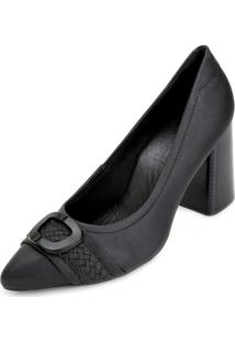 Sapato Salto Bloco Sense Flex An20-2748 Preto
