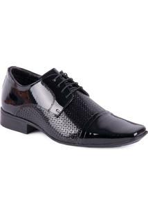 Sapato Jota Pe Social Air Bag Com Cadarço - Masculino-Preto