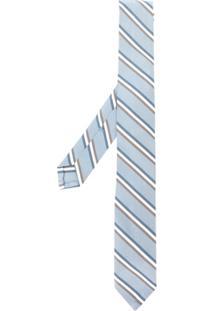 Thom Browne Gravata Com Listras - Azul