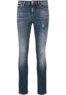 Philipp Plein Calça Jeans Skinny Desgastada - Azul