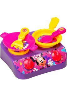Jogo De Cozinha Minnie® - Rosa & Amarelo- 5Pçs -Etilux