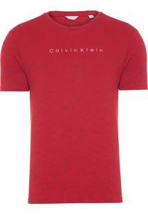 Camiseta Masculina Slim - Vermelho