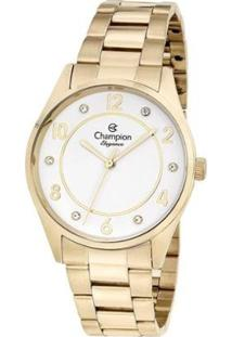 Relógio Champion Elegance Feminino - Feminino-Dourado