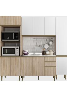 Cozinha 4 Peã§As C/ Paneleiro Aveiro/Bra Be Mobiliã¡Rio Bege/Branco - Bege - Dafiti