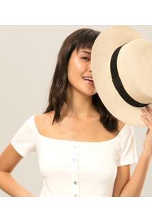 Blusa Cropped Botões Branco Off White - Lez A Lez