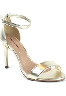 Sandália Emporionaka Metalizada Feminina - Feminino-Dourado