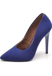 Scarpin Feminino Ellas Online Salto Alto Azul - Kanui