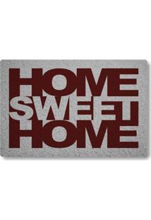 Tapete Capacho Home Sweet Home - Prata