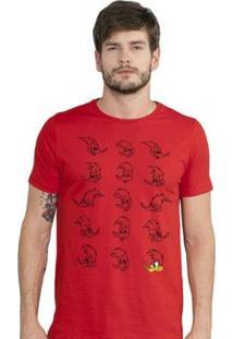 Camiseta Bandup! Pica-Pau Expressions - Masculino-Vermelho