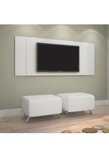 Painel Para Tv Até 42 Polegadas Jaspe Branco