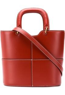 Staud Bolsa Bucket Com Recortes - Vermelho