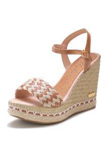 Sandália Sb Shoes Anabela Ref.3227 Whisky