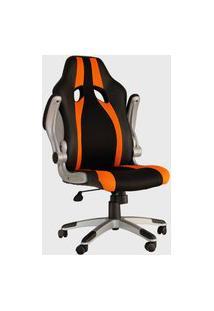 Cadeira Office Speed Preta E Laranja Rivatti