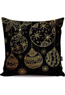 Capa De Almofada Bolas Ornamentadas- Preta & Douradastm Home