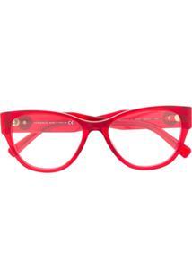 Versace Eyewear Óculos De Sol Gatinho Com Aplicação Medusa - Vermelho