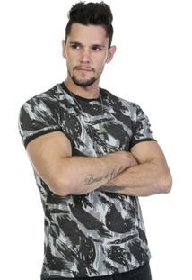 Camiseta Militar Camuflada Super Reforçada Em 100% Algodão - Masculino
