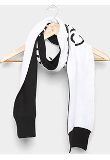 Cachecol Calvin Klein Personalizado Feminino - Feminino-Preto
