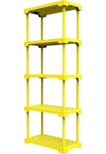 Estante Poly Com 5 Prateleiras Amarelo