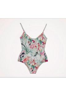 Maiô Zephyr Beachwear Recorte - Feminino-Verde