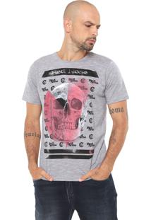 Camiseta Red Nose Estampada Cinza