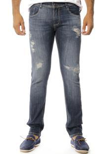 Calça Jeans Sawary Skinny Confort Azul