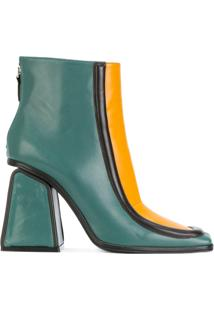 Marni Ankle Boot De Couro - Green
