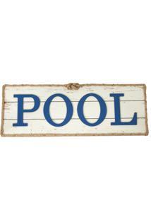 Placa Decorativa Pool