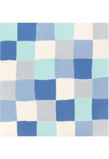 Bonpoint Cobertor Com Patchwork De Tricô - Azul