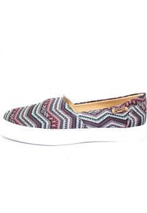 Tênis Slip On Quality Shoes Feminino 002 Étnico Azul 36