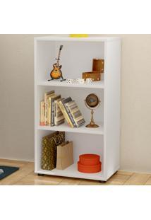 Estante Para Livros Clean 2 Prateleiras Branco 005319 - Artany